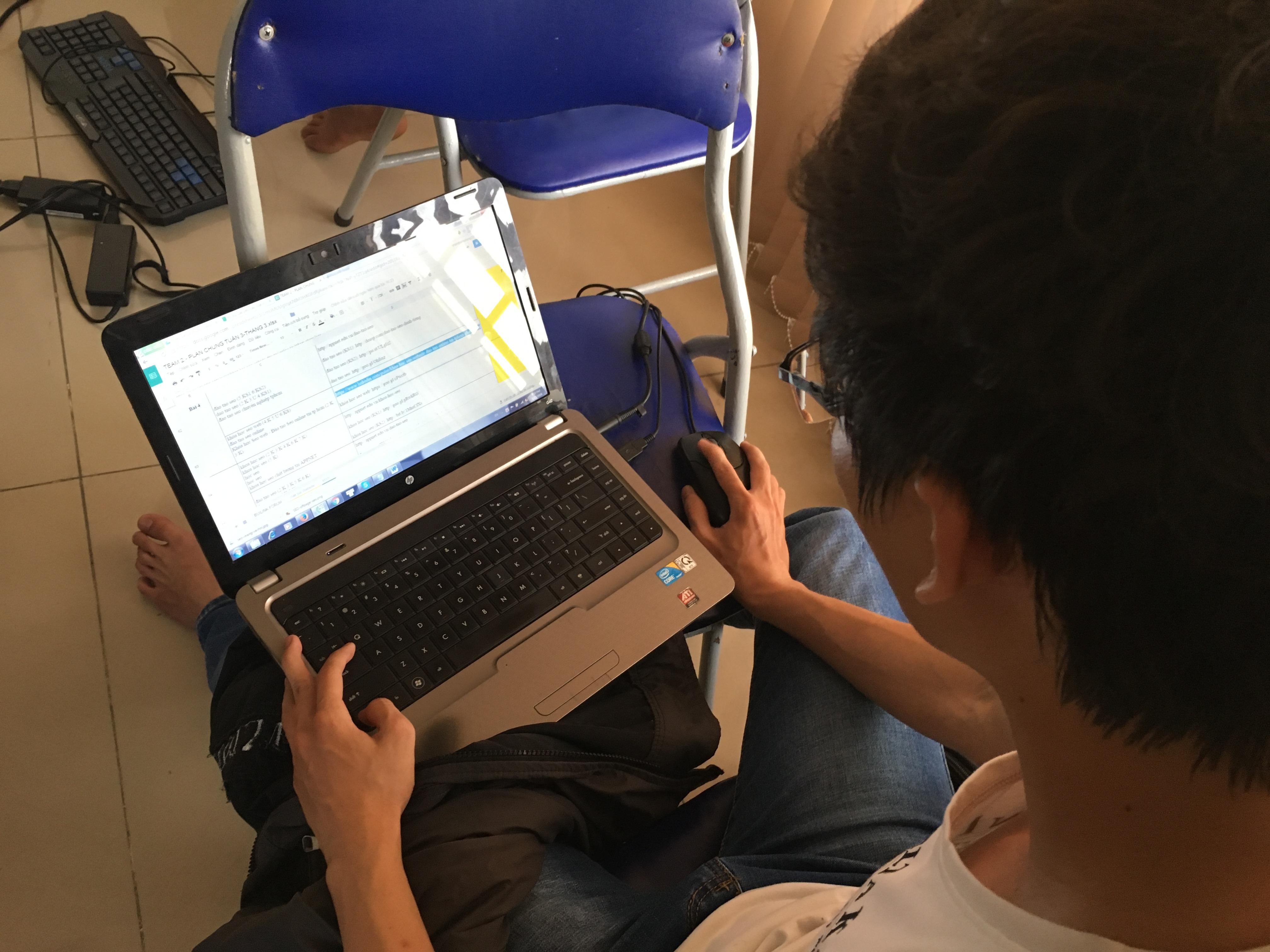 Phong đang lập Plan SEO
