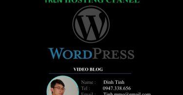 Hướng dẫn cài đặt Wordpress trên hosting