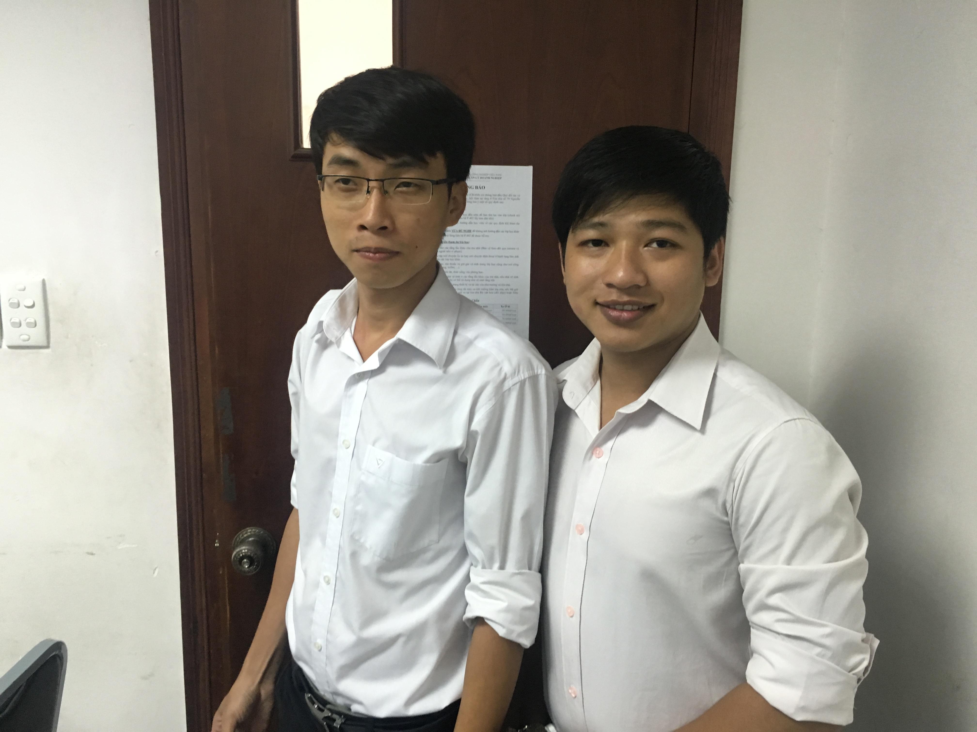 Đình Tỉnh và bạn hỗ trợ Quang Đô