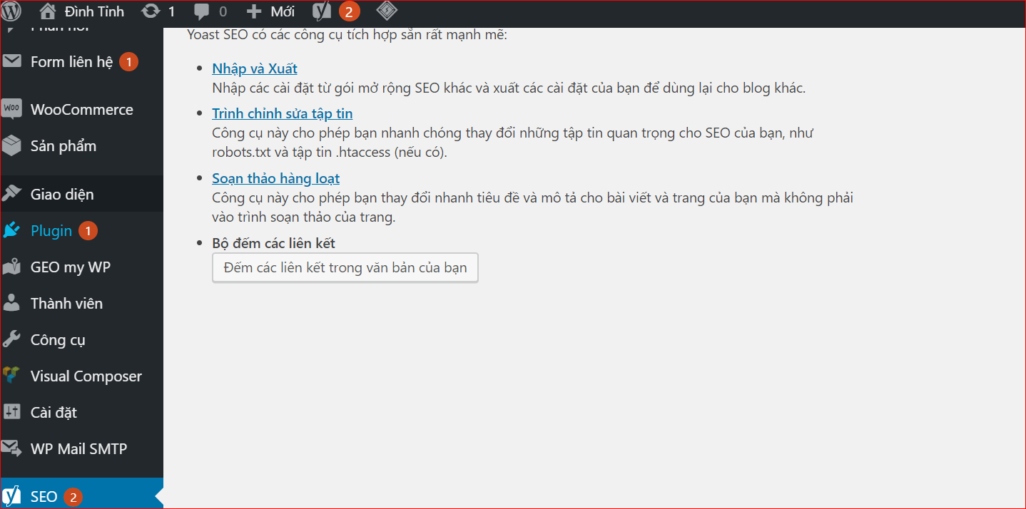 Chỉnh sửa File Robot htaccess